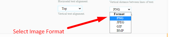 How to convert text to image online step 5