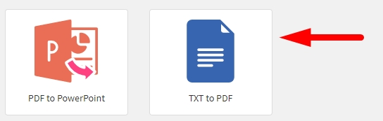 How to convert txt file to pdf online step 1