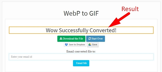 how to convert webp to gif online step 3