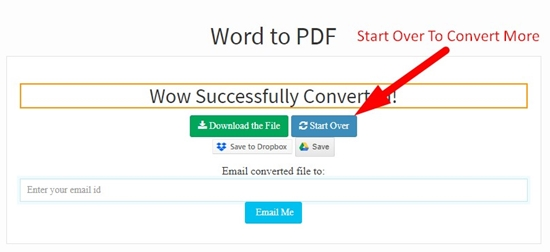 How to convert word to pdf online step 5