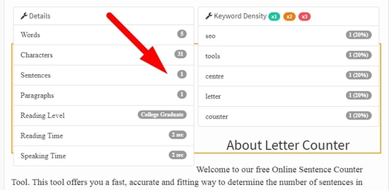 how to count letters online step 2
