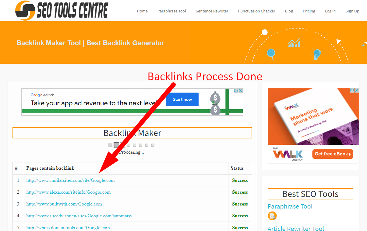 How to create backlinks step 4