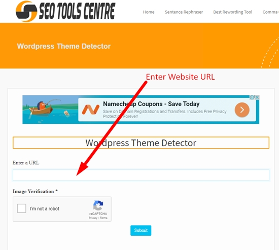 how to detect wordpress theme step 1