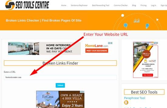 How to find broken links step 1