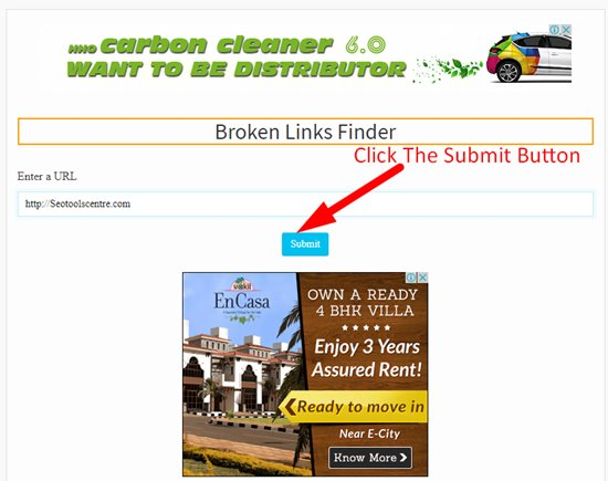 How to find broken links step 2