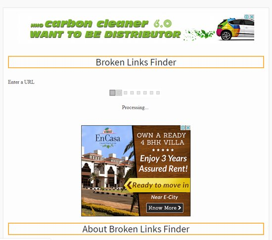How to find broken links step 3