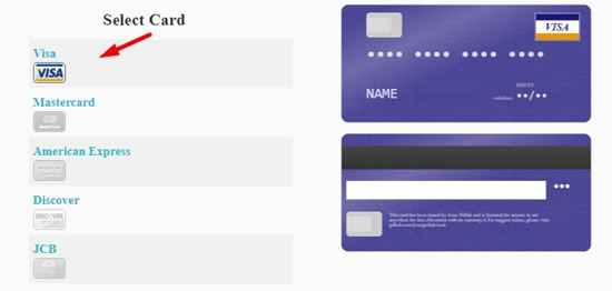How to generate credit card online step 3