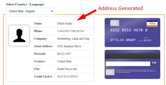 how to generate fake address online step 5