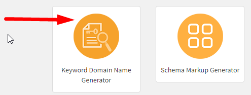 How to generate keyword domain name online step 1