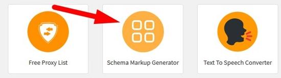 How to generate schema markup code step 1
