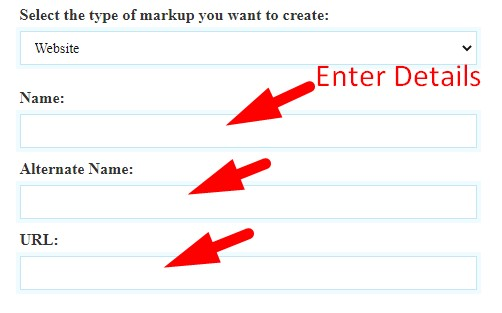 How to generate schema markup code step 3