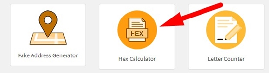 how to perform hexadecimal calculation online step 1