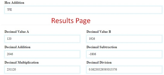 how to perform hexadecimal calculation online step 6