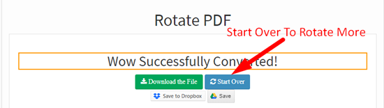 how to rotate pdf file online step 5