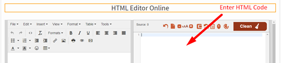 How to use online html editor step 1