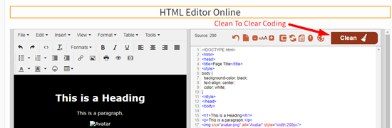 How to use online html editor step 2