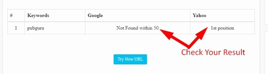 how to use keyword position checker tool step 3