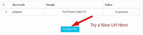 how to use keyword position checker tool step 2