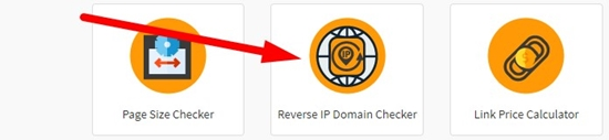 How to use reverse ip domain checker step 1