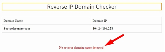 How to use reverse ip domain checker step 4