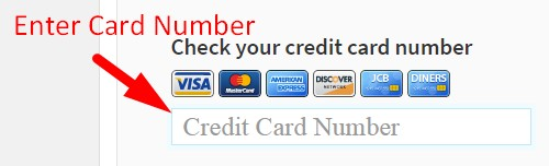How to validate credit card online step 2