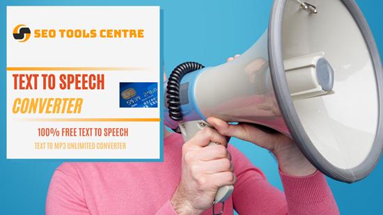 SEO Tools Centre Text To Speech Converter