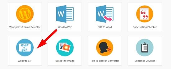 Webp to gif converter online